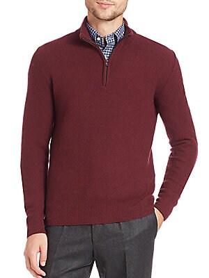 Half-Zip Wool & Cashmere Sweater