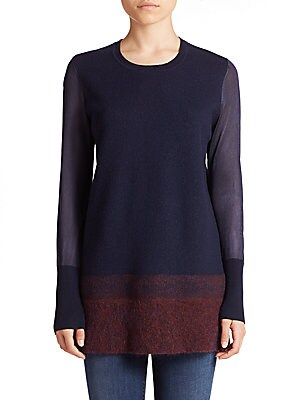 Needle-Punch Ombré Sweater