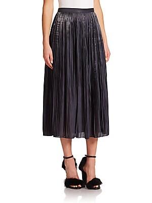 Flume Pleated Midi Skirt