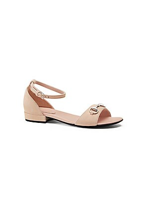 gucci girls girls suede horsebit sandals