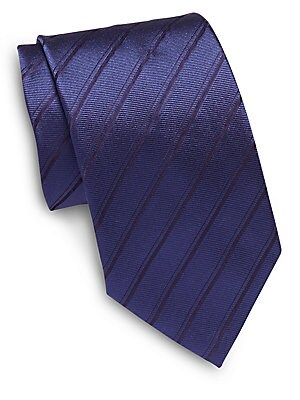Regimental Stripe Italian Silk Tie