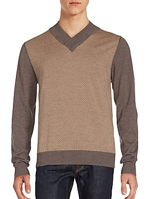 Updated V-Neck Wool Sweater