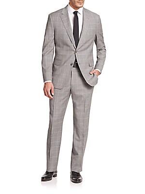 Samuelsohn Windowpane Wool Suit