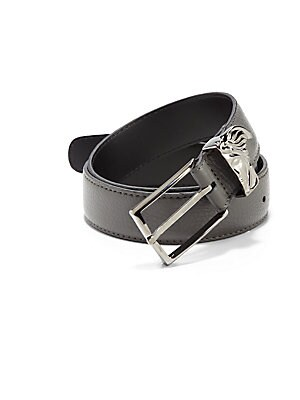 Medusa Logo Leather Belt