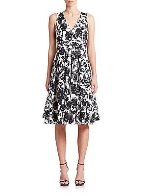 Brushstroke Floral Cotton Dress