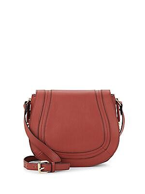 Liza Faux Leather Crossbody Saddle Bag