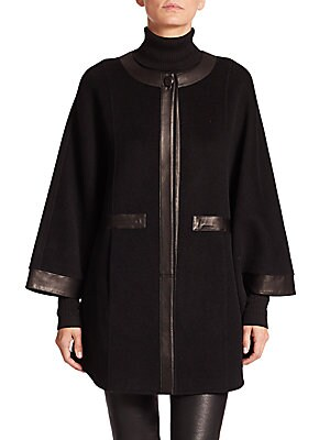 Double-Faced Wool Blend Cape
