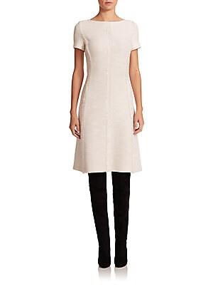 Fringed Bouclé Knit Dress