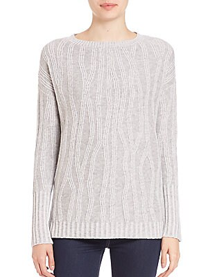 Waterfall Striped Wool & Cashmere Sweater