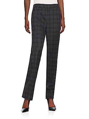 Wool Plaid Pants