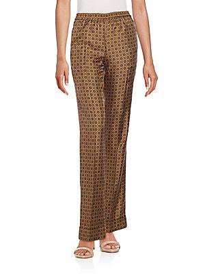 michael kors female sheffield foulard silk pajama pants