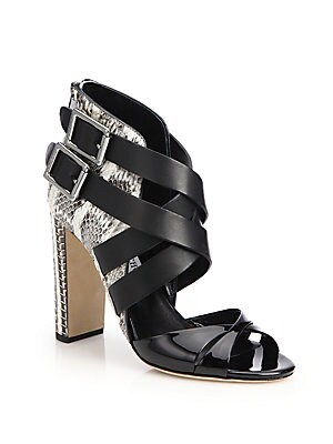 Diane Mixed-Media Sandals
