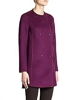 Roundneck Wool Coat