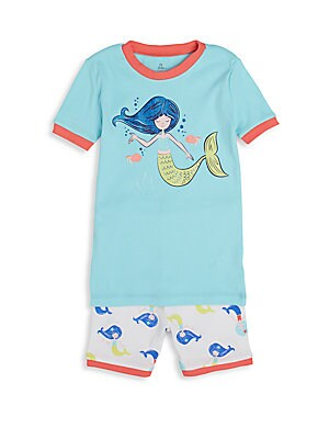 Toddler's Mermaid Short Pajama Set