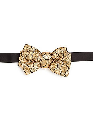 Brocade & Satin Bow Tie