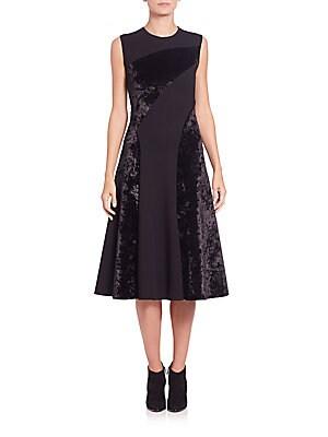 Ponte & Velvet Dress