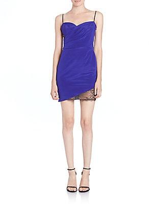 Draped-Bodice Regine Slip Dress