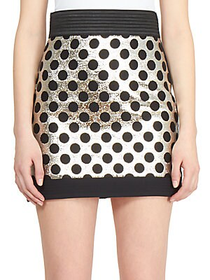 Metallic Dot Mini Skirt