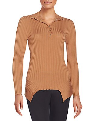 Ribbed Wool & Silk Sweater