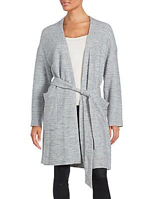Belted Waist Long Sleeve Sweater