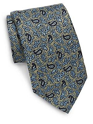 Italian Silk Paisley Printed Tie