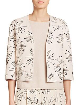 Matchstick Print Reversible Jacket