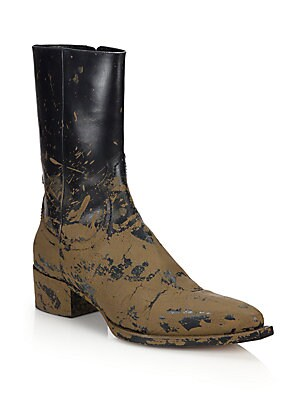 Dallas Mud-Finish Leather Ankle Boots
