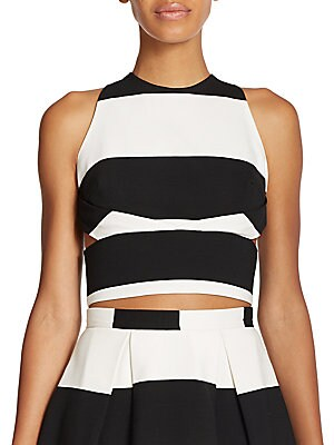 N / NICHOLAS Orchard Striped Cropped Top