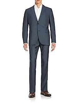 Trim-Fit Wool Suit