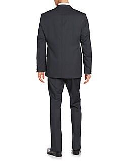 Trim-Fit Pindot Wool Suit