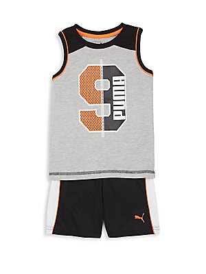 Toddler's & Little Boy's Two-Piece Number Tank & Shorts Set