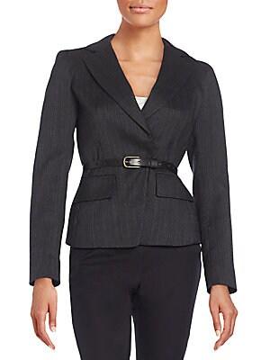 Belted Wool-Blend Jacket