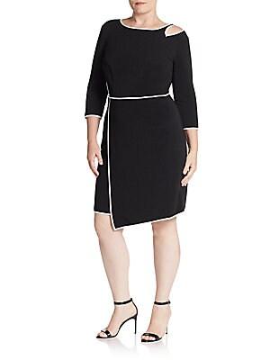 abs plus size female bodycon cutoutdetail asymmetrical dress