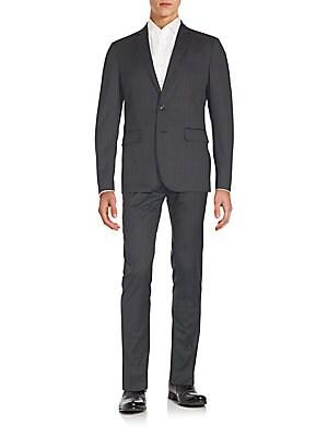 Woolen Pinstripe Two-Button Suit