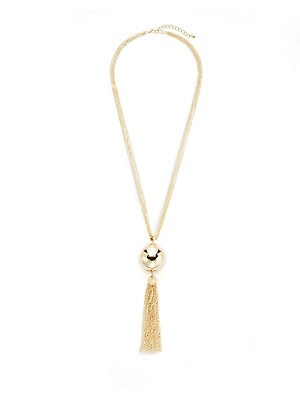 Ball & Tassel Chain Necklace