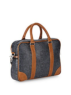 Paisley Faux Leather Briefcase