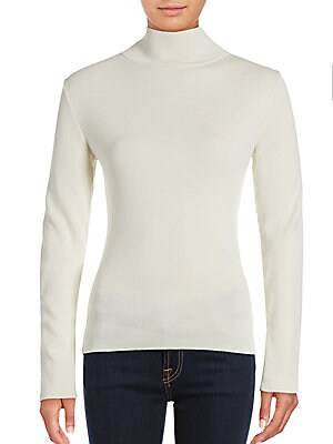 Stitched Turtleneck Sweater