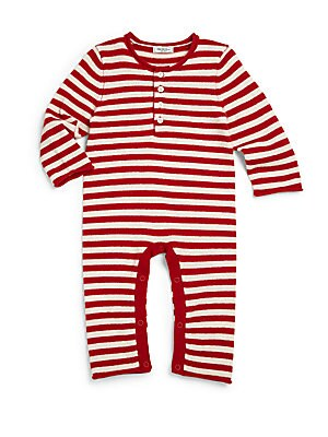 Baby's Cashmere Striped Coverall