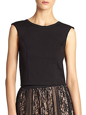 Back-Zip Cropped Top