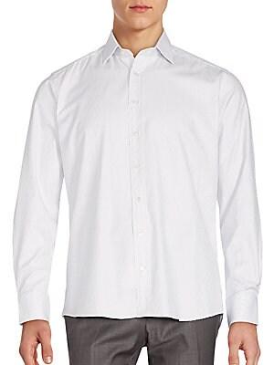 Dot Printed Cotton Shirt