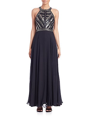 Normandy Embellished Silk Gown
