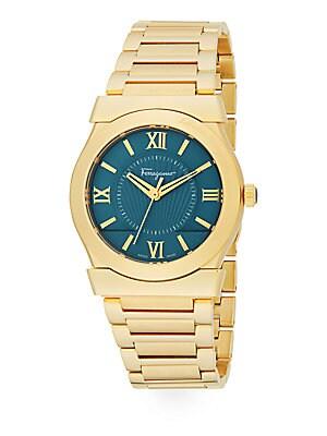 Vega Gold Stainless Steel Bracelet Watch