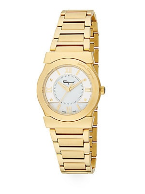 Vega Gold Ion-Plated Stainless Steel Bracelet Watch