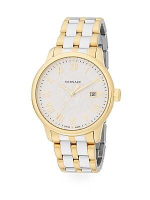 Business Goldtone Stainless Steel Bracelet Watch