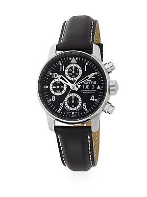 Flieger Automatic Limited Edition Stainless Steel & Leather Chronograph Watch