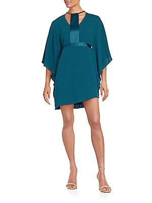Bat-Wing-Sleeve Shift Dress
