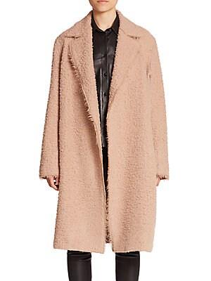 Shaggy Alpaca & Virgin Wool Coat