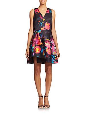 Floral Satin Dress
