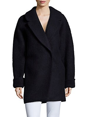 Oversized Stretch-Wool Coat