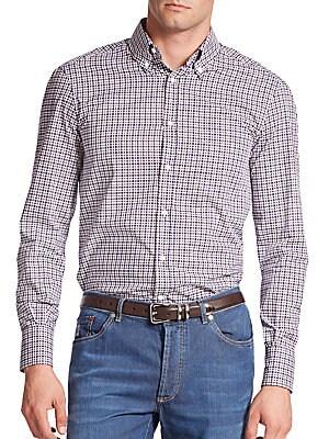 Checked Cotton Sportshirt